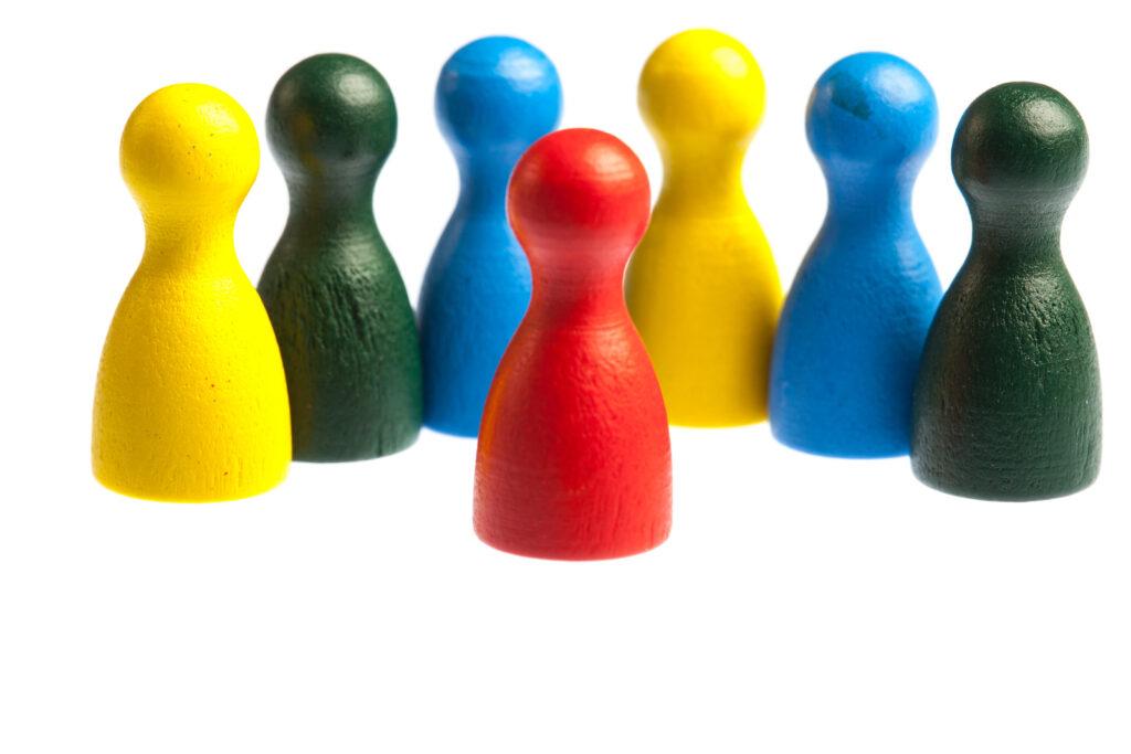 Diversity Team Concept, Pawn Figures